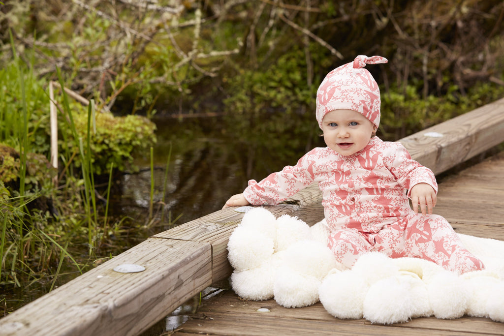 Classic Footie Jumpsuit Woodland Bird - Little Cotton Cloud