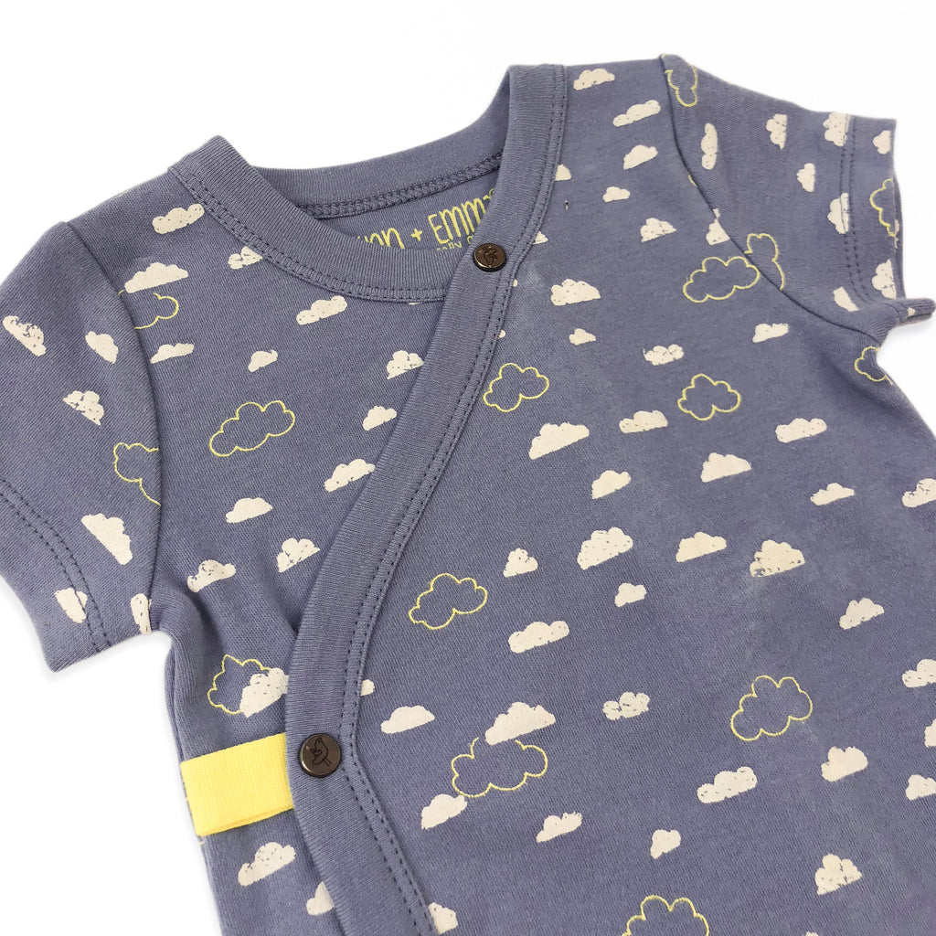 Cloudy Sky Short Sleeve Bodysuit - Little Cotton Cloud