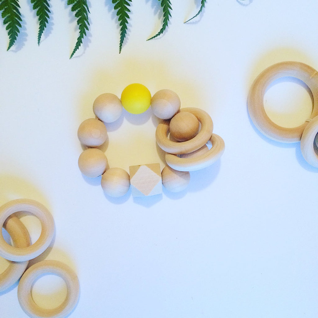 Rainbow - Yellow Teether - Little Cotton Cloud
