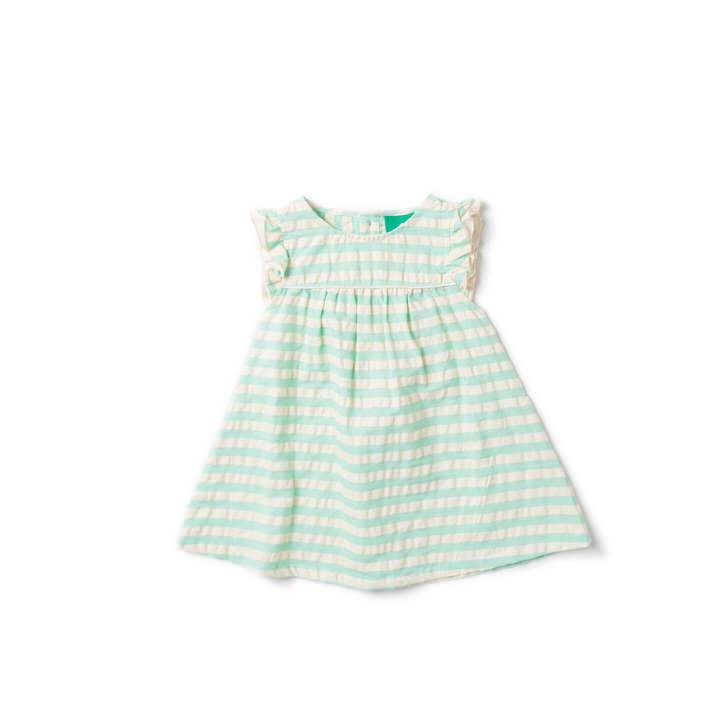 Pale Turquoise Frill Dress - Little Cotton Cloud