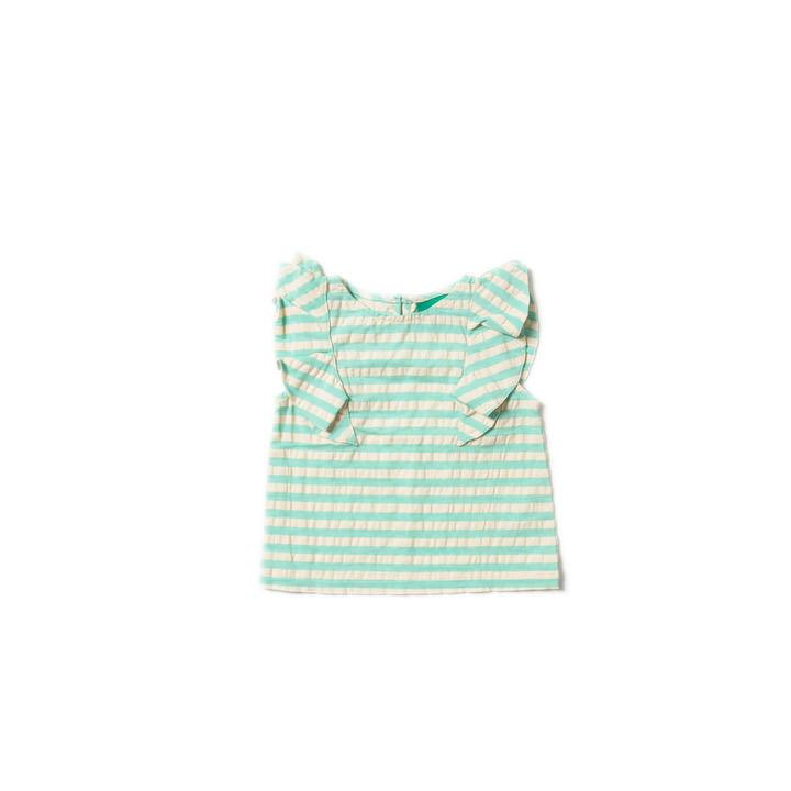 Pale Turquoise Falling Water Top - Little Cotton Cloud