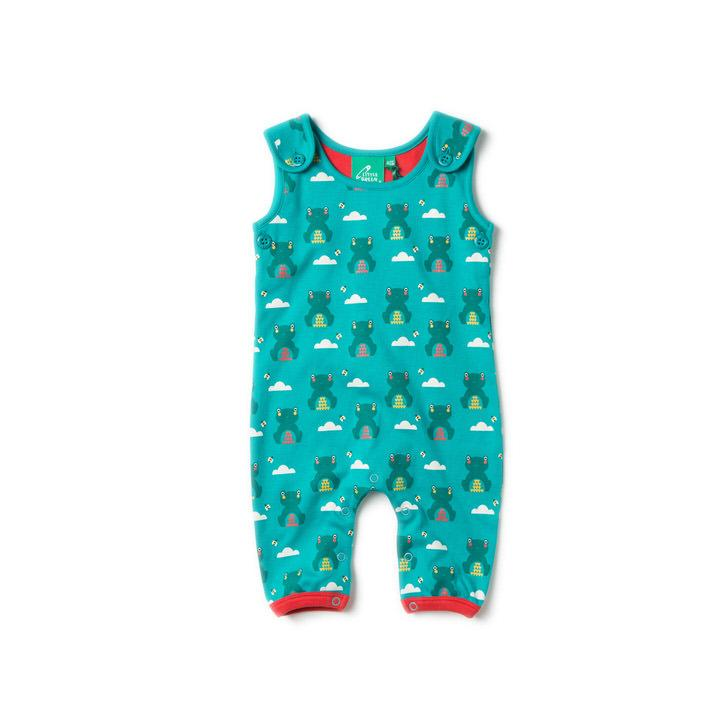 River Frog Dungarees - Little Cotton Cloud