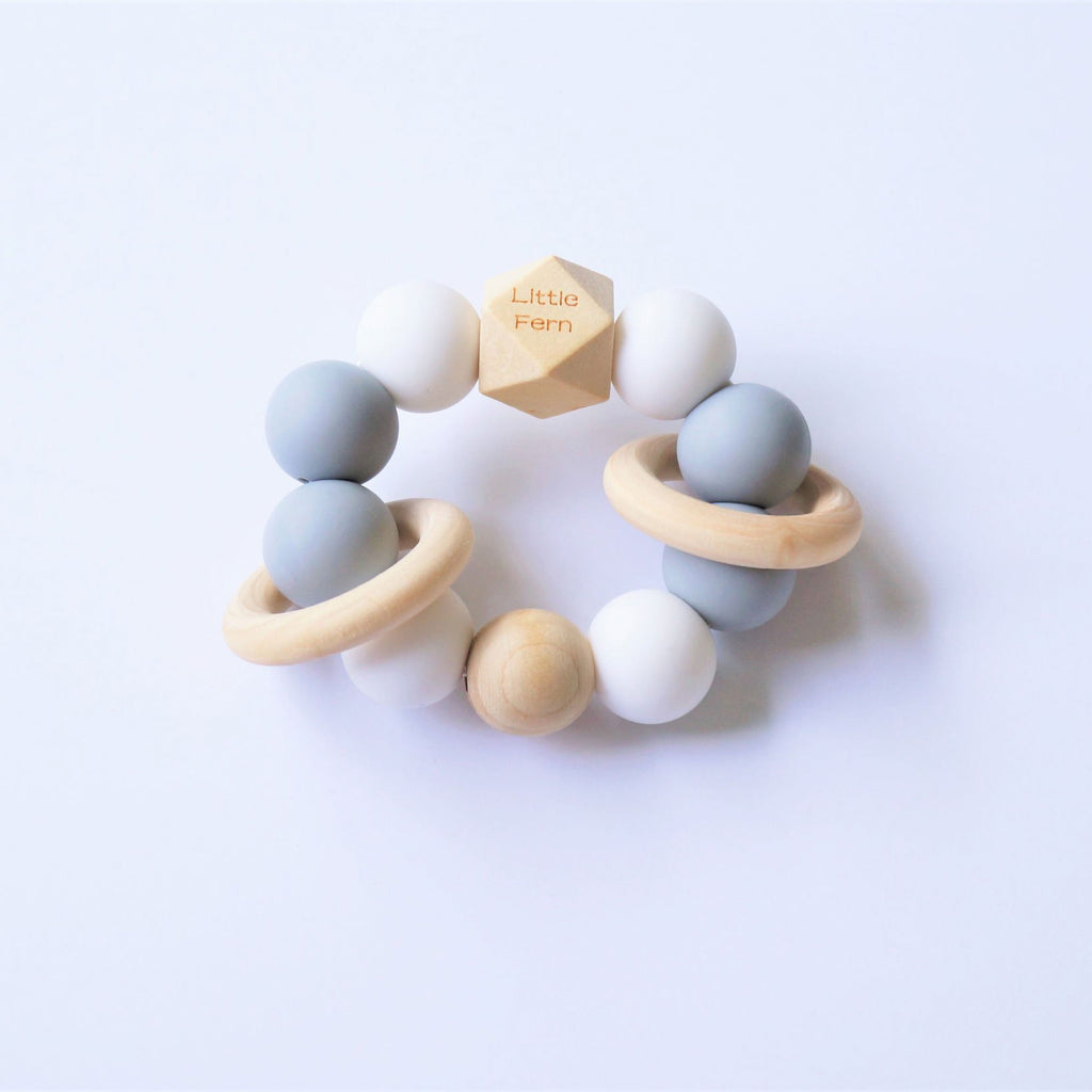Te Tae - Grey Teether - Little Cotton Cloud