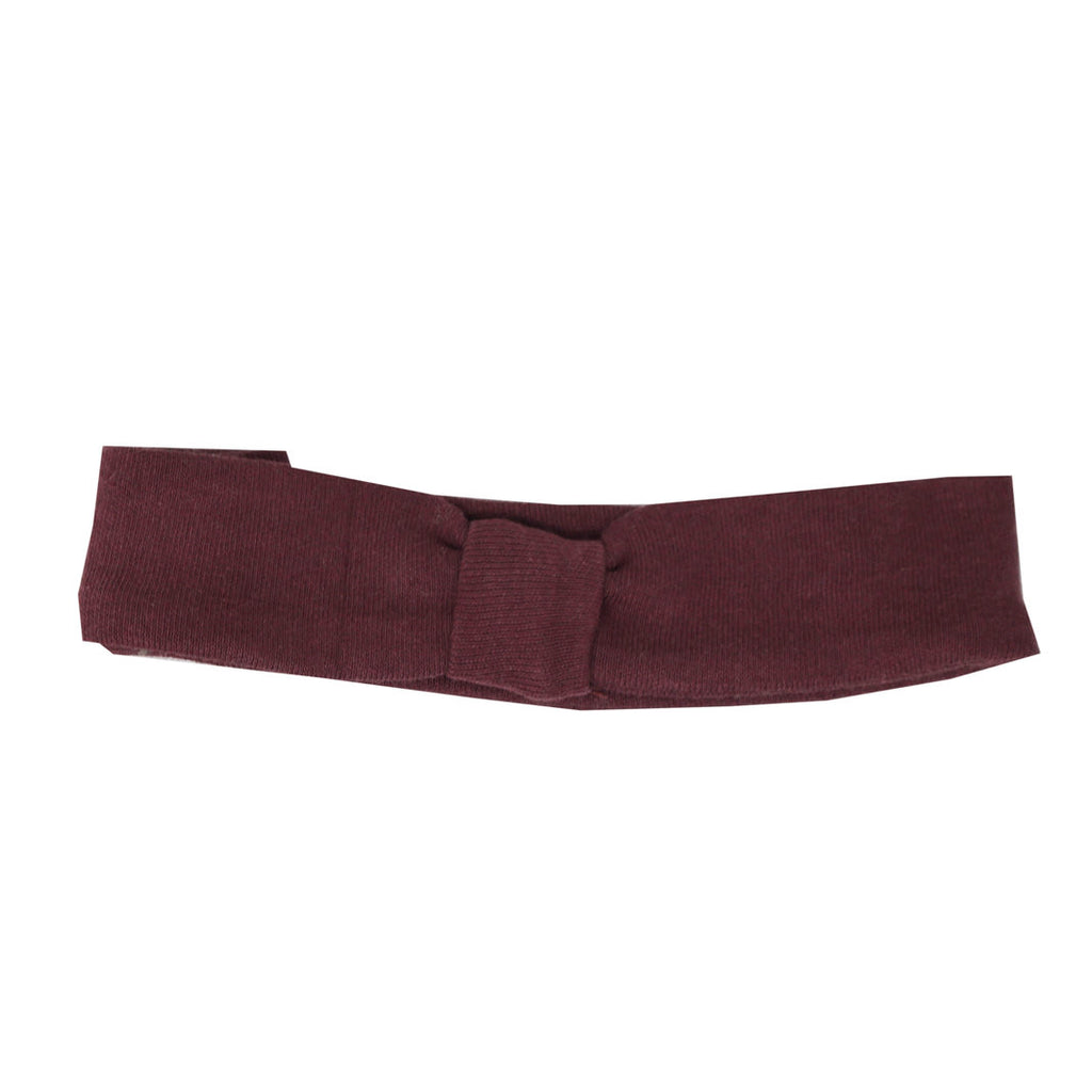 Organic Headband Eggplant - Little Cotton Cloud