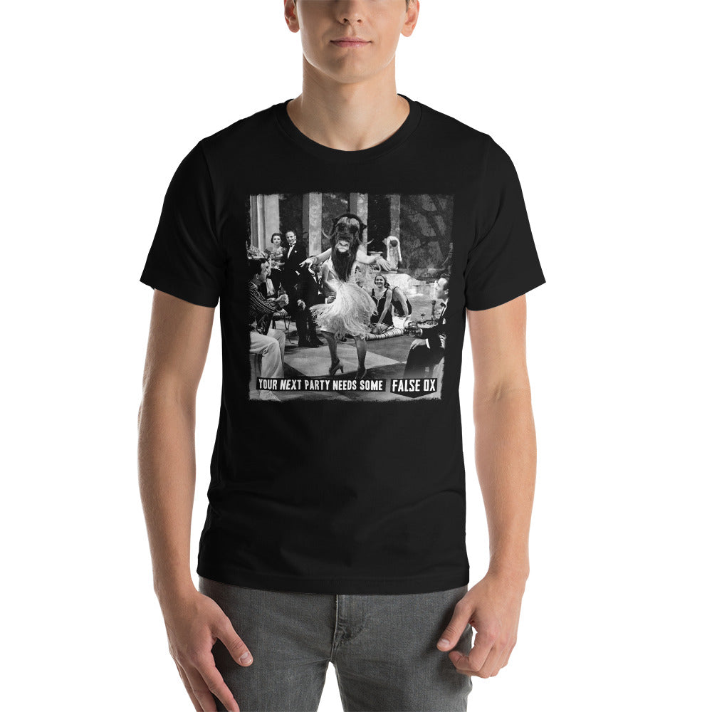 False Ox Party Black Unisex T-Shirt