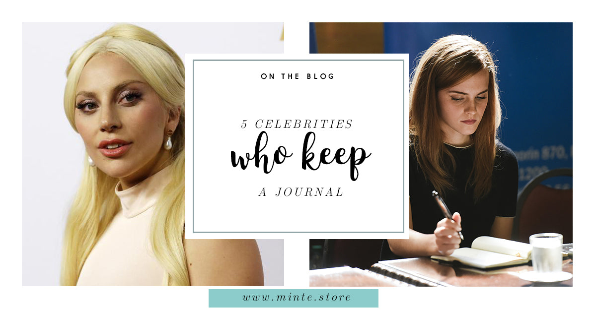 5 celebrities who keep a journal