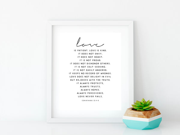 free printable wall art, love print