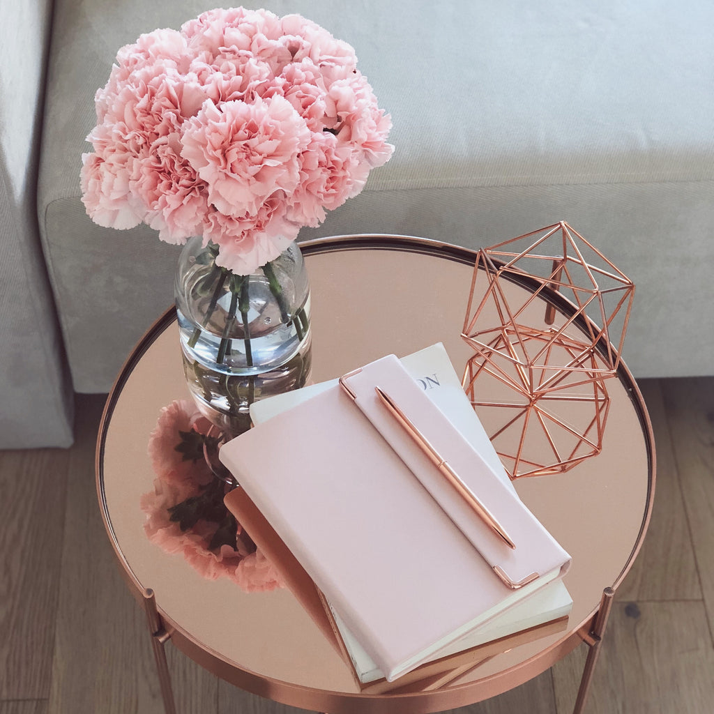 Minte Journal - light pink/silver