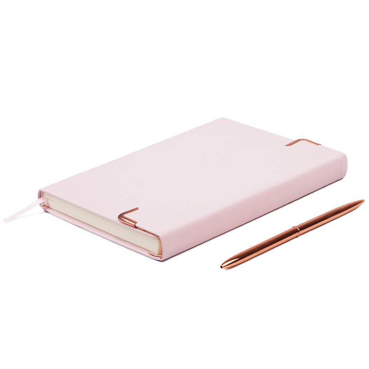 Minte Journal - light pink/rose gold