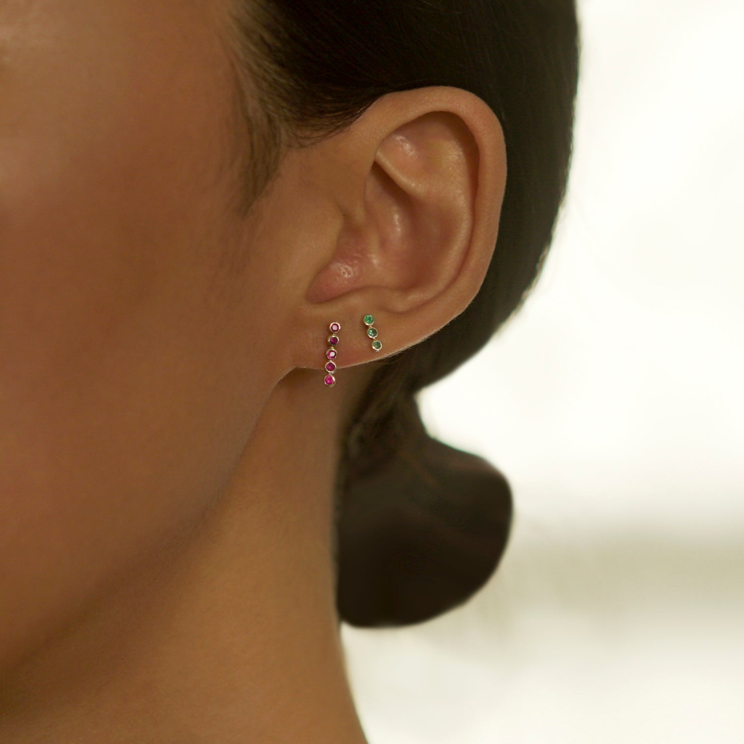 Quintuple Dot Earring