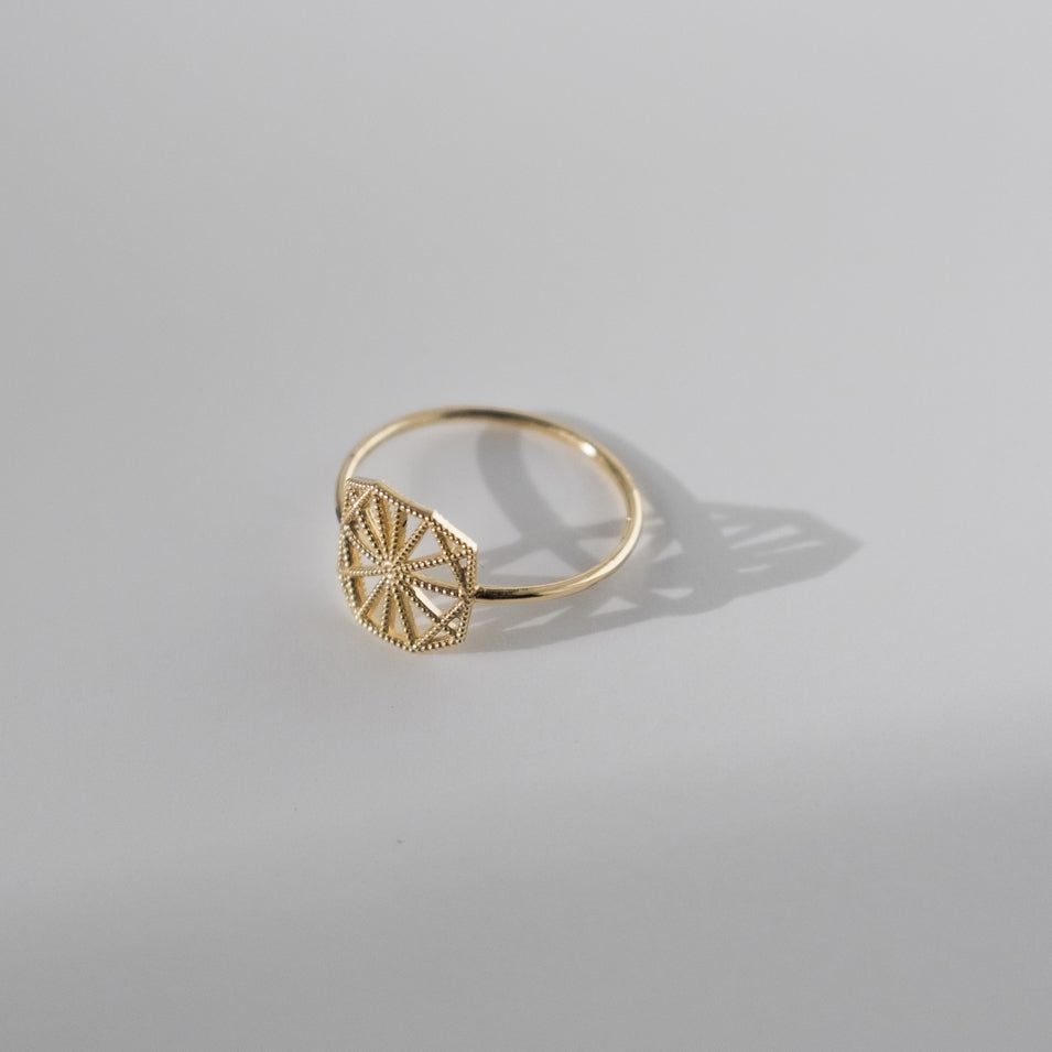 Petite Lace Deco Ring - II