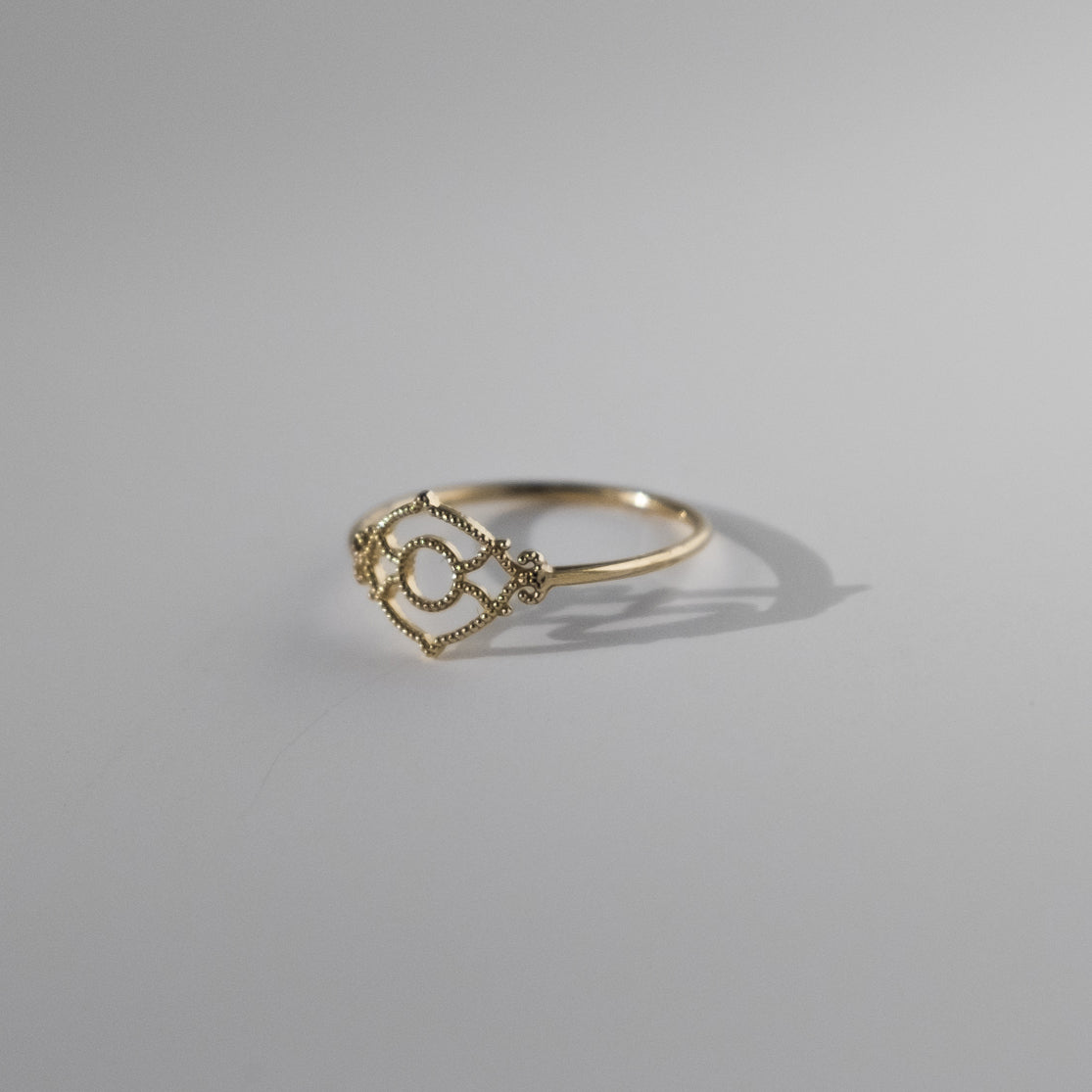 Petite Lace Deco Ring - III