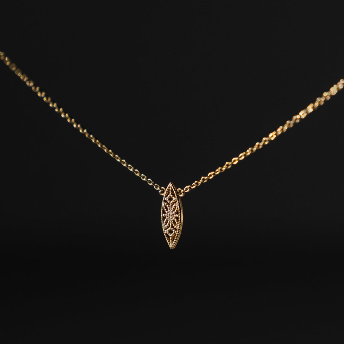 Petite Lace Deco Necklace - I