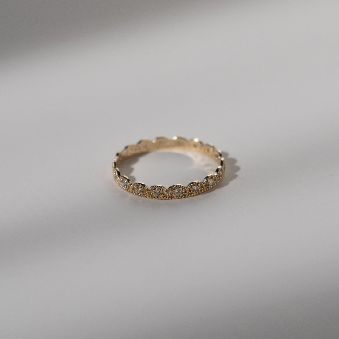 Petite Lace Band with Diamonds