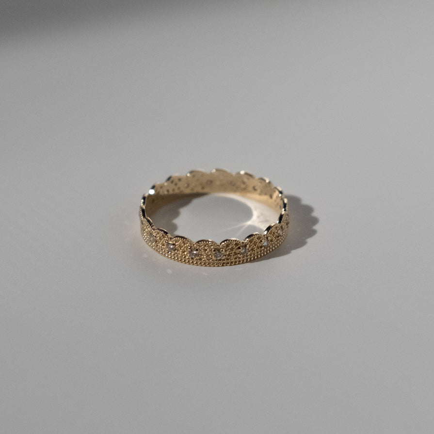 Lace Band with Diamonds
