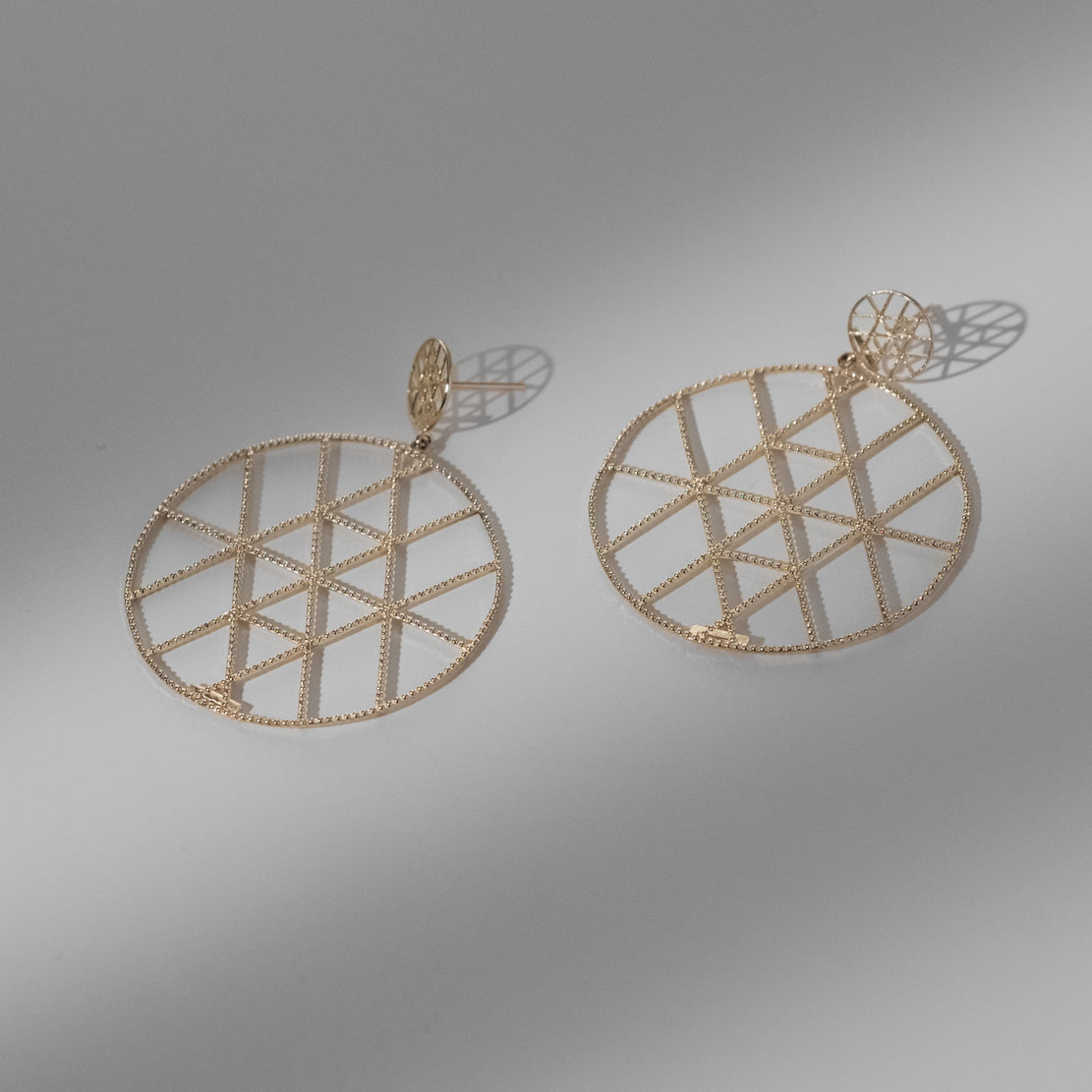 Maman Geo Duo Disc Earrings