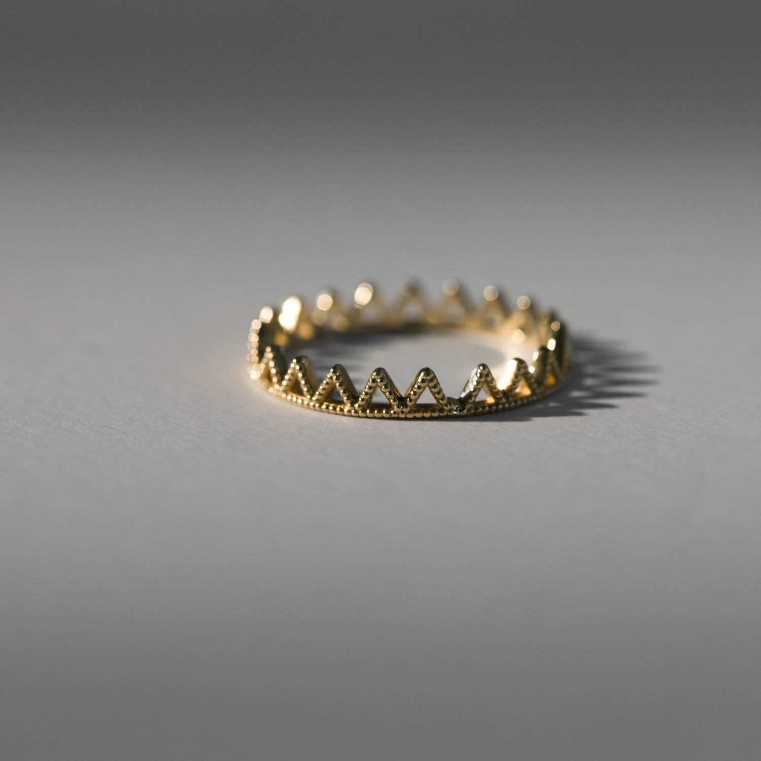 Beaded Triangle Eternity Ring