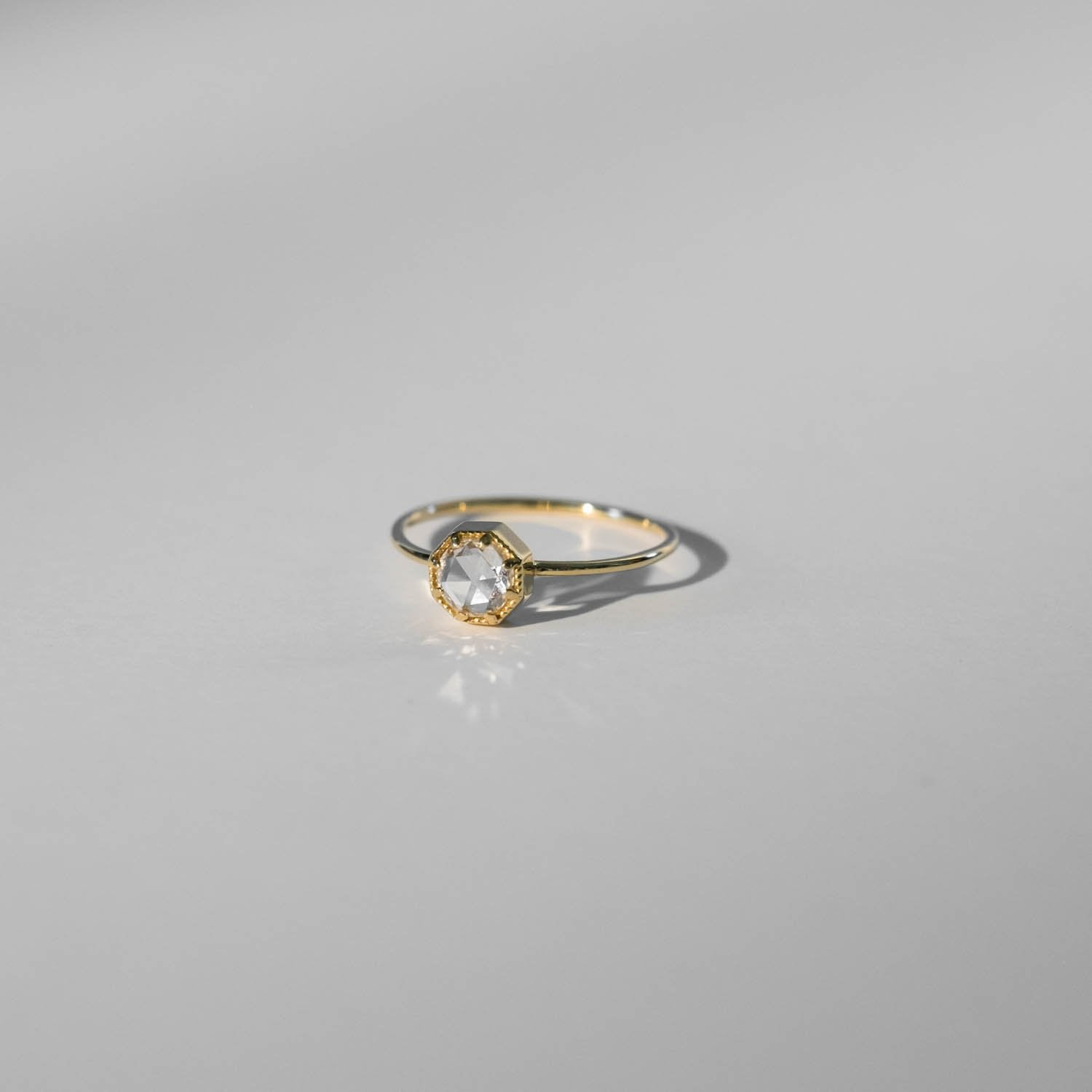 Crown Bezel Diamond Ring