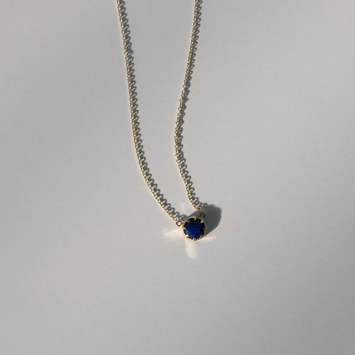 Crown Bezel Lapis Necklace