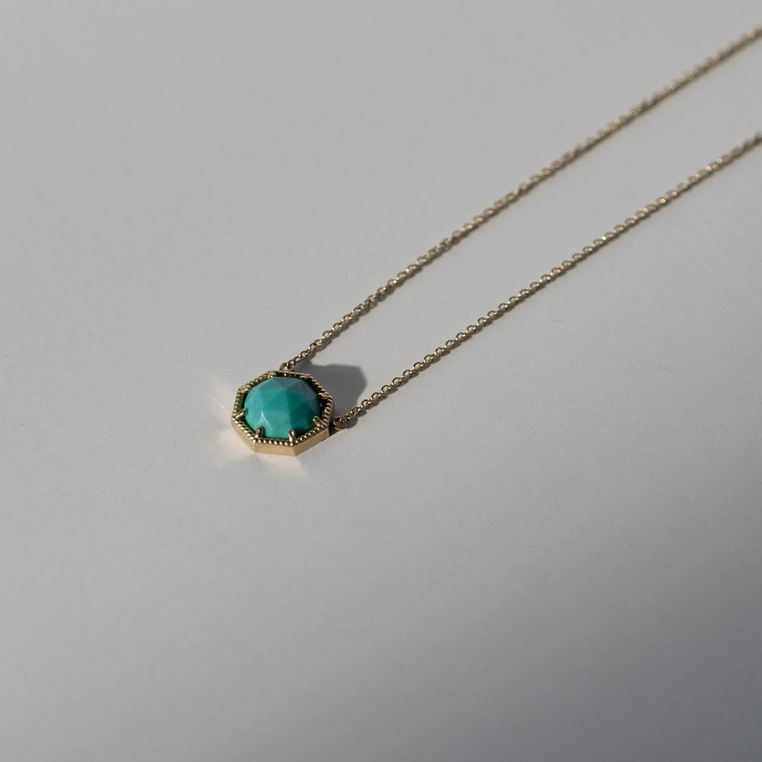 Maman Crown Bezel Turquoise Necklace