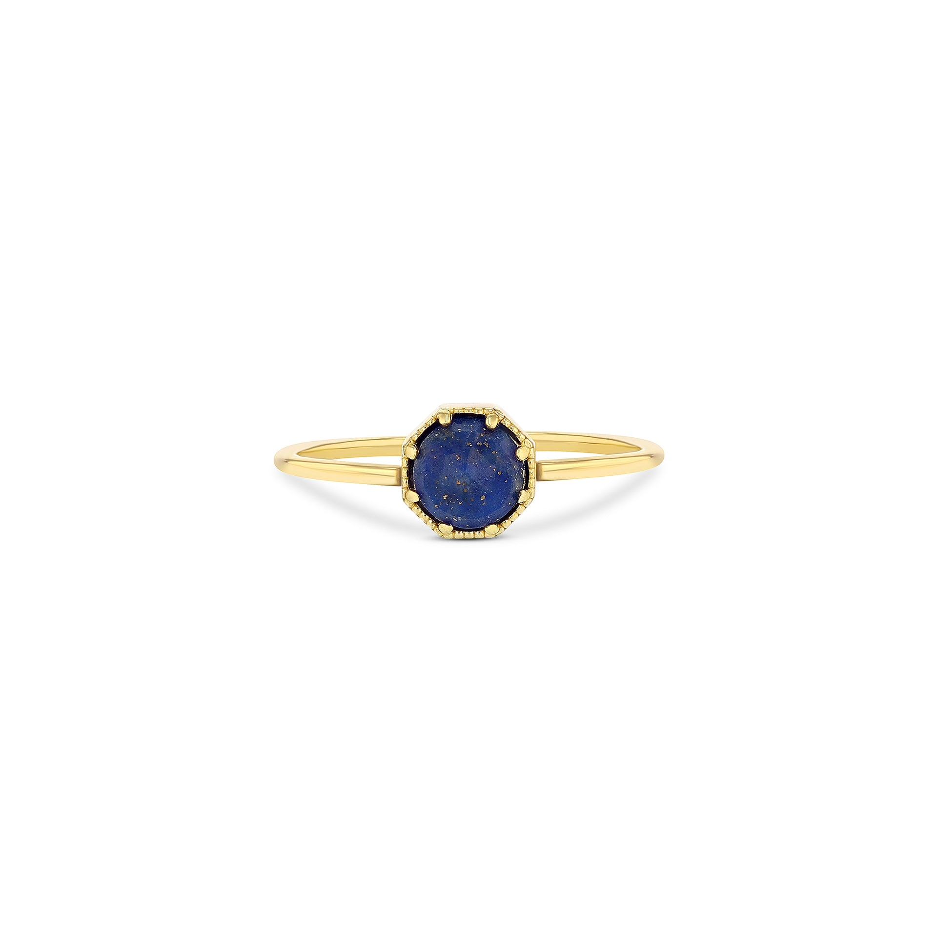 Crown Bezel Lapis Ring