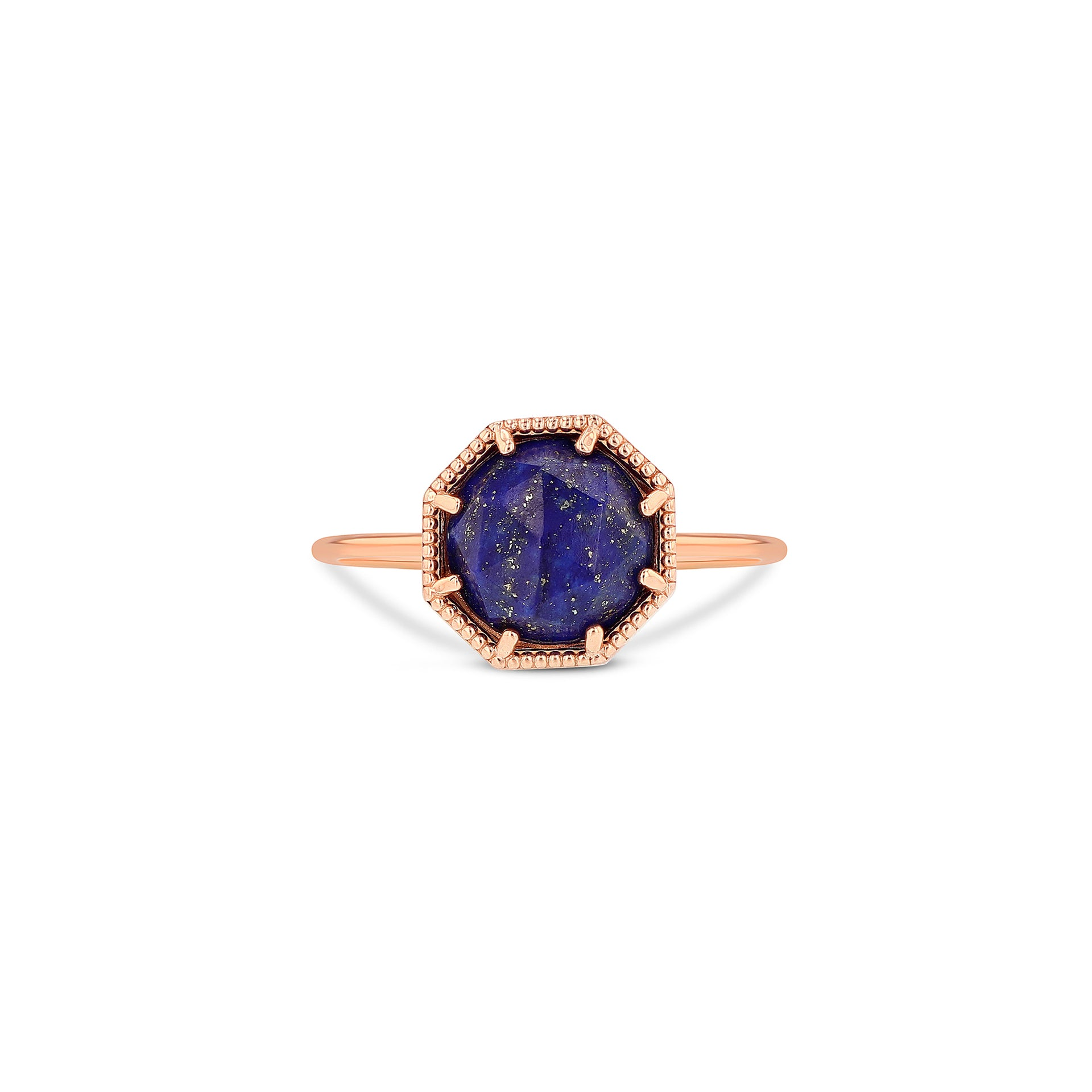 Maman Crown Bezel Lapis Ring