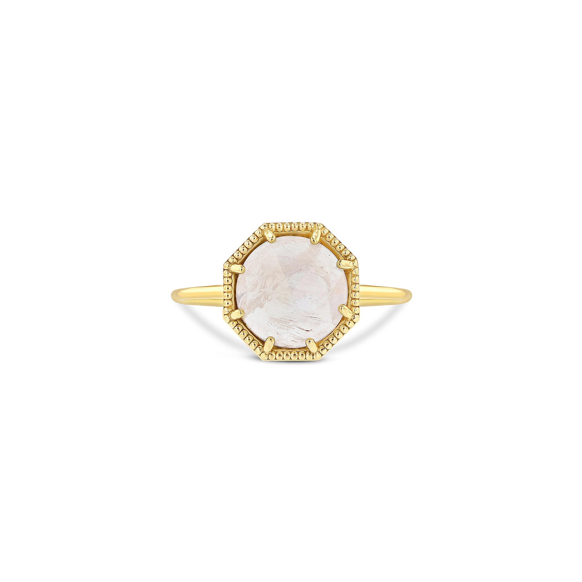 Maman Crown Bezel Moonstone Ring