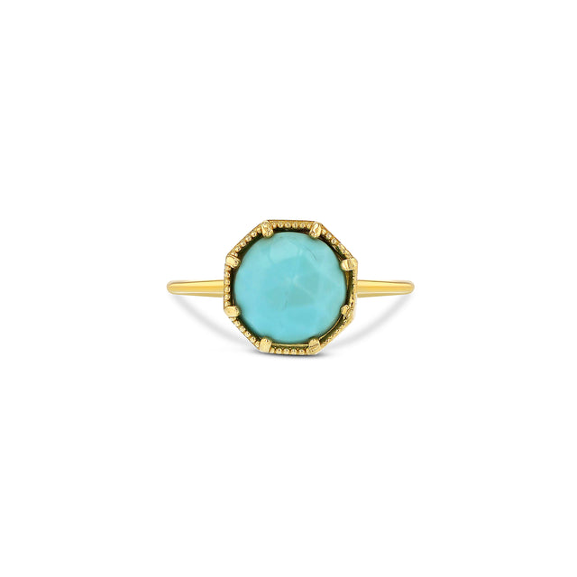 Maman Crown Bezel Turquoise Ring - RTS