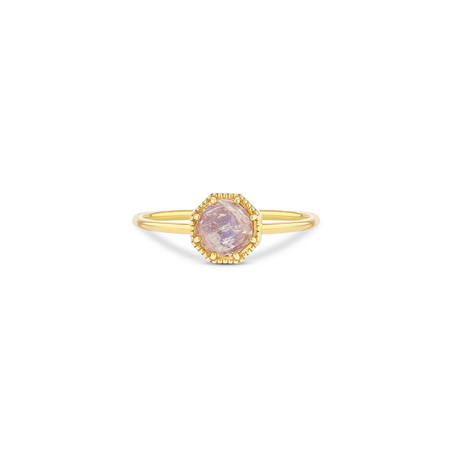 Crown Bezel Moonstone Ring - RTS