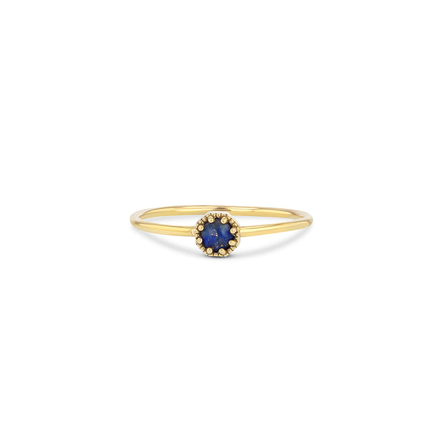 Petite Crown Bezel Lapis Ring - RTS