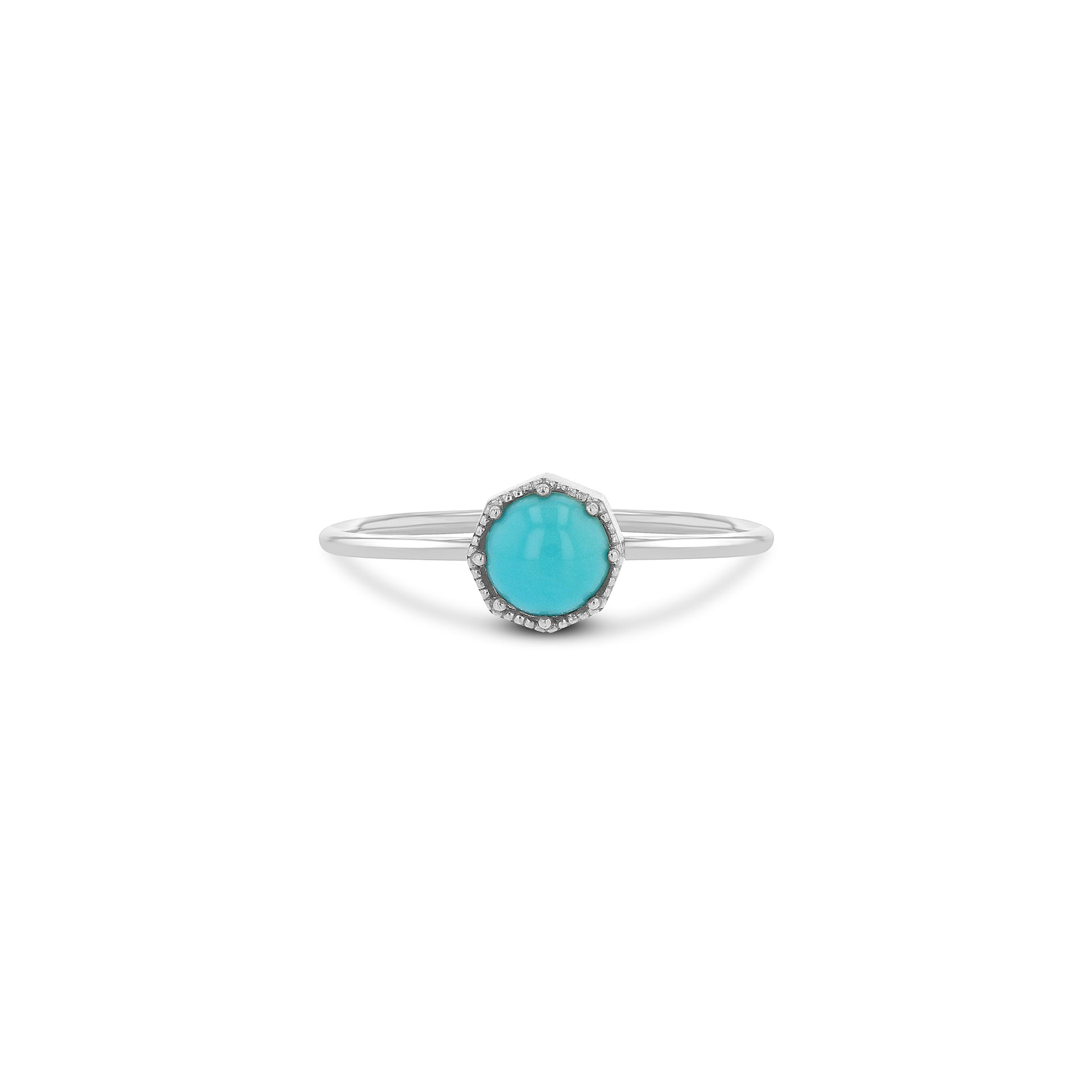 Crown Bezel Turquoise Ring