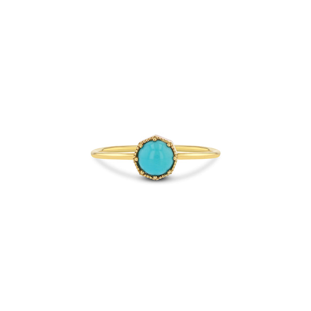 Crown Bezel Turquoise Ring - RTS