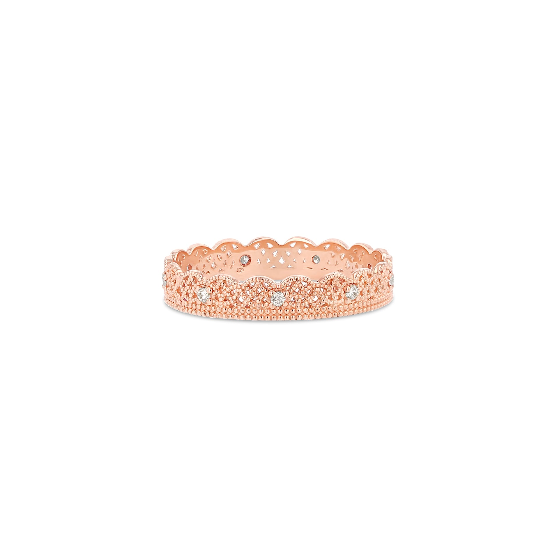Lace Band with Alternating Diamonds