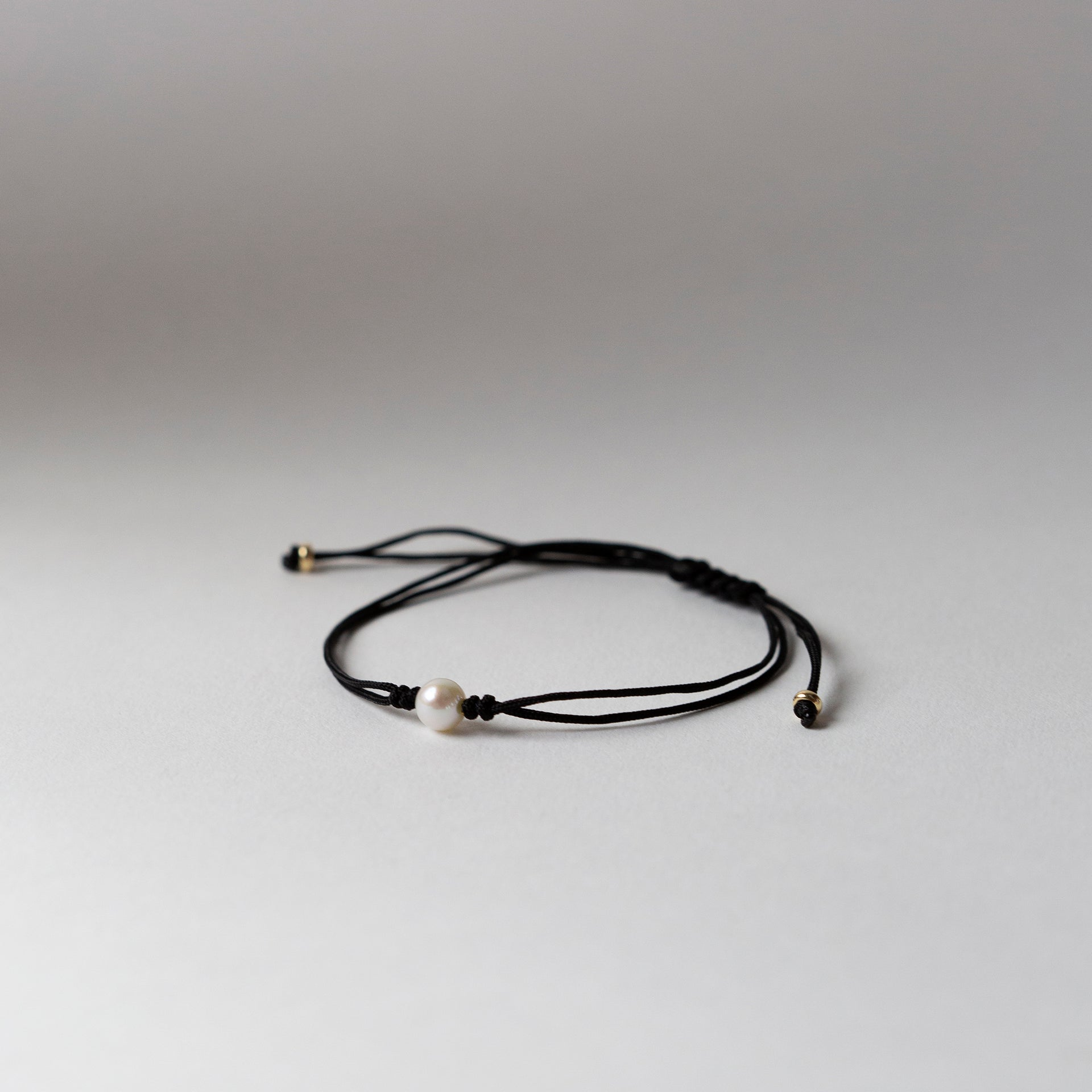 Pearl Silk Cord Anklet