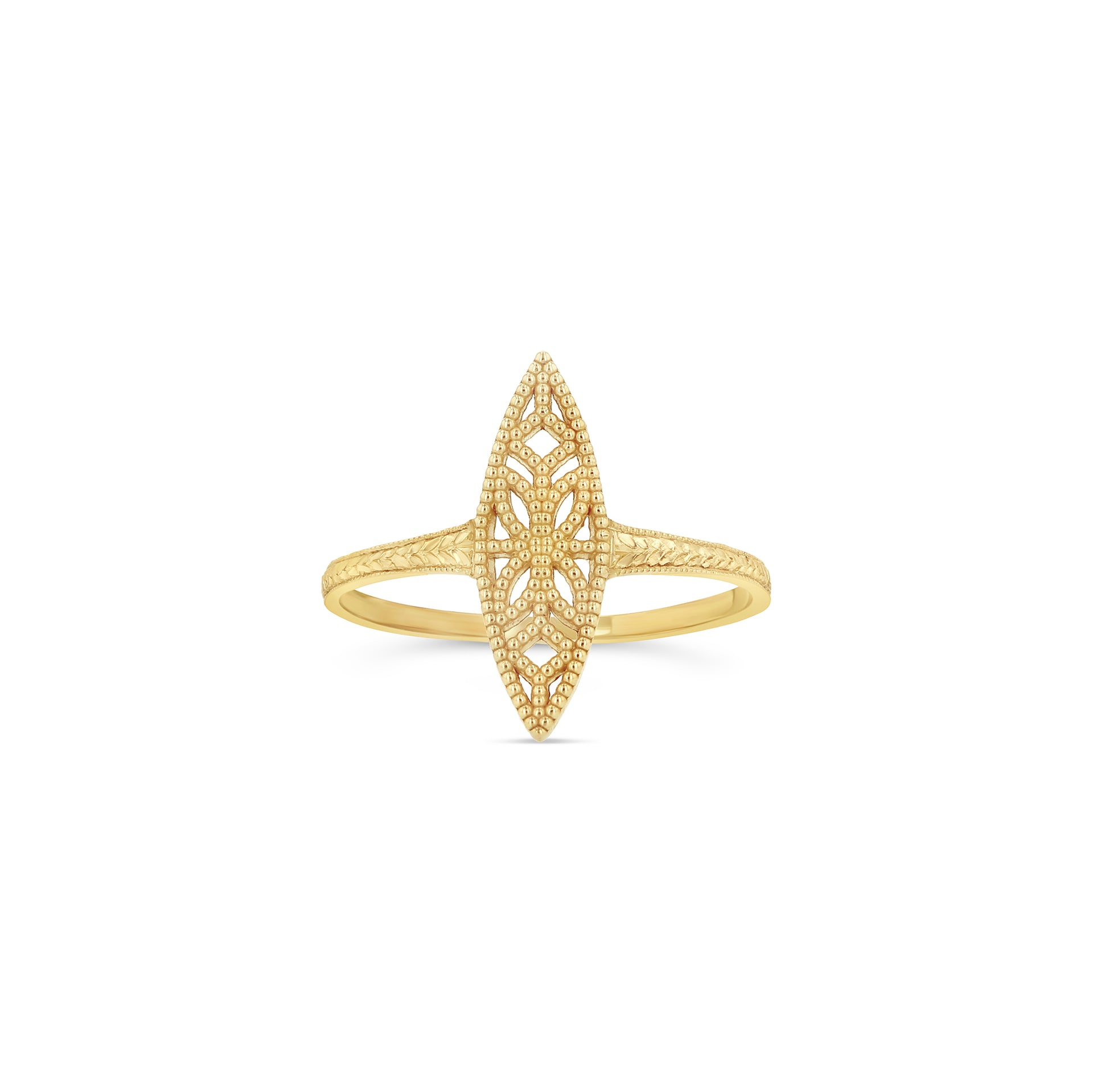 Lace Deco Ring - I