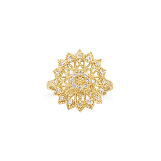 Lace Deco Ring - VI w Diamonds