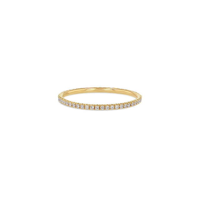 White Diamond U-Pavé Eternity Ring