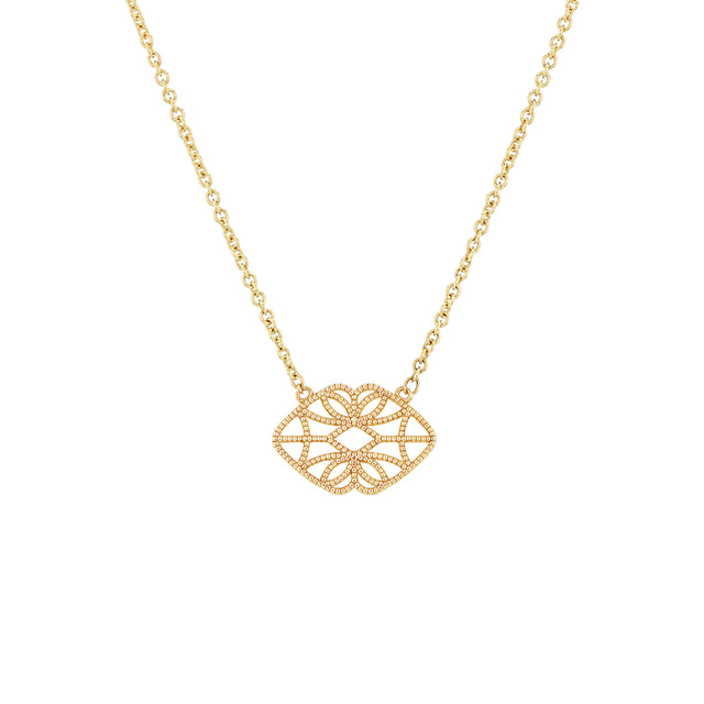 Petite Lace Deco Necklace - X