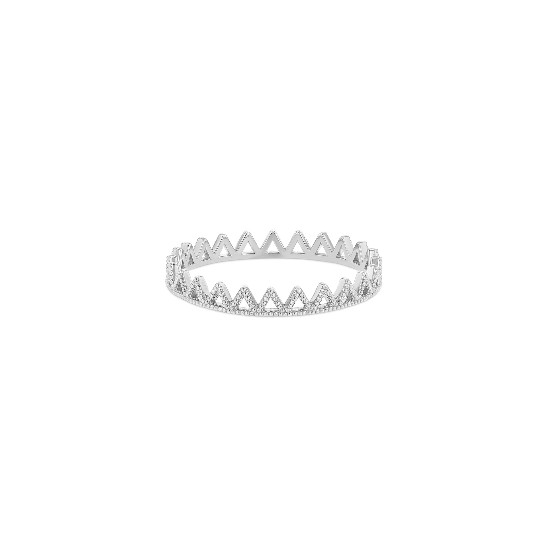 Beaded Triangle Eternity Ring - RTS