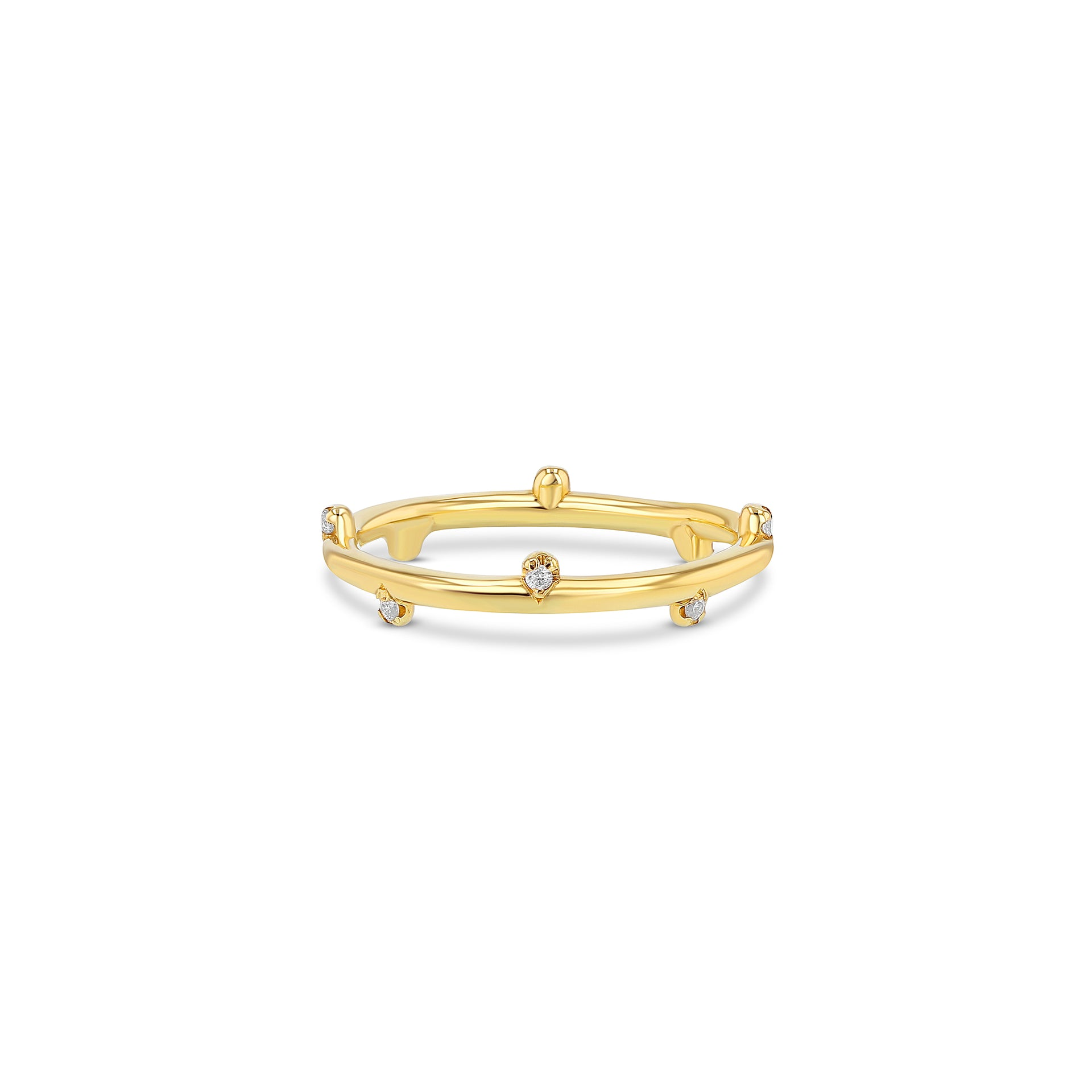 Half Dasher Ring with Diamonds