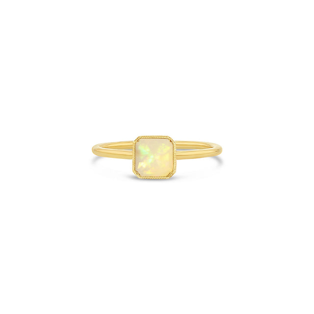 Square Bezel Opal Ring - RTS