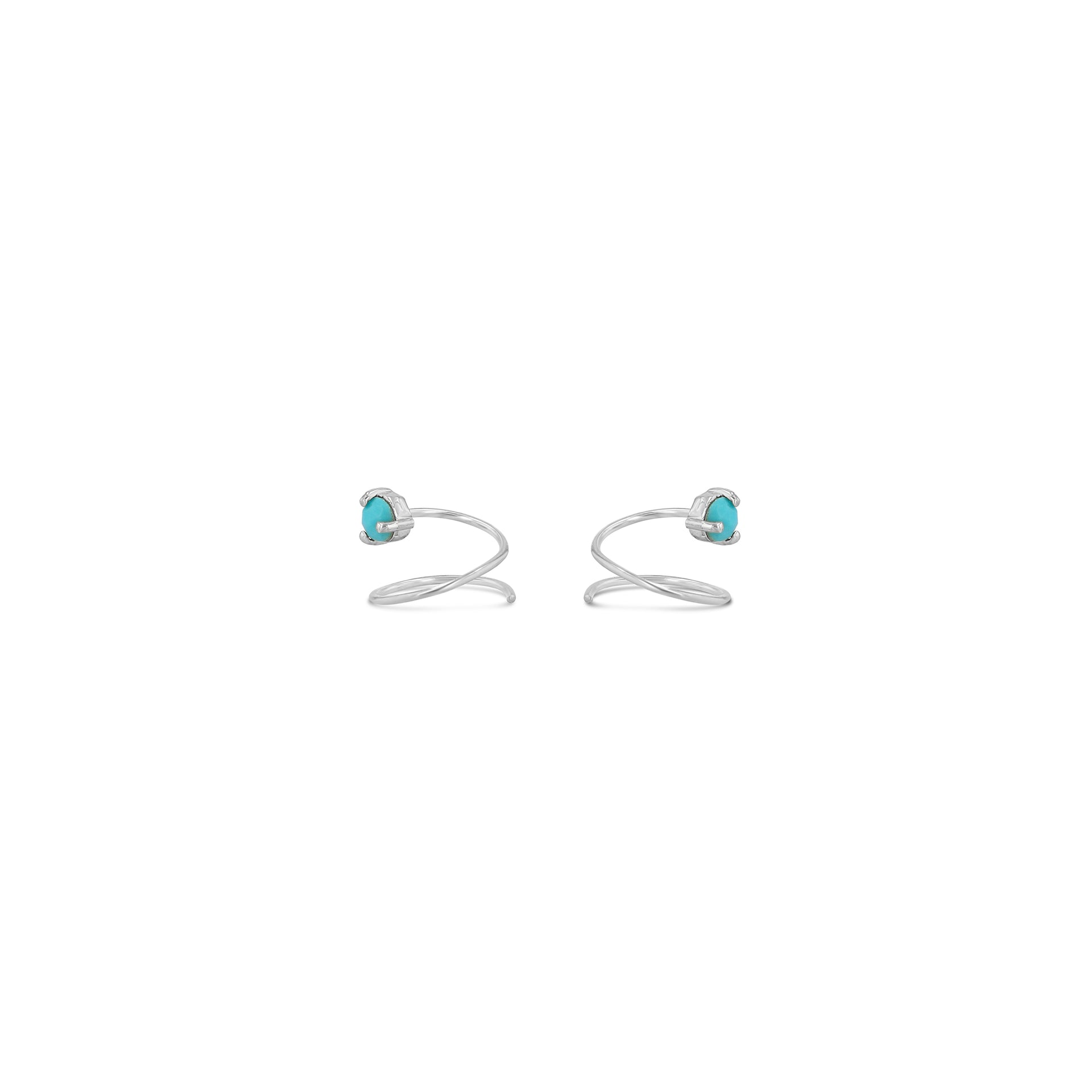 Petite Turquoise Curl Earrings