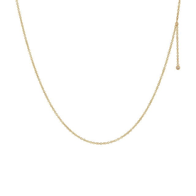 Diamond Dot Dangle Necklace