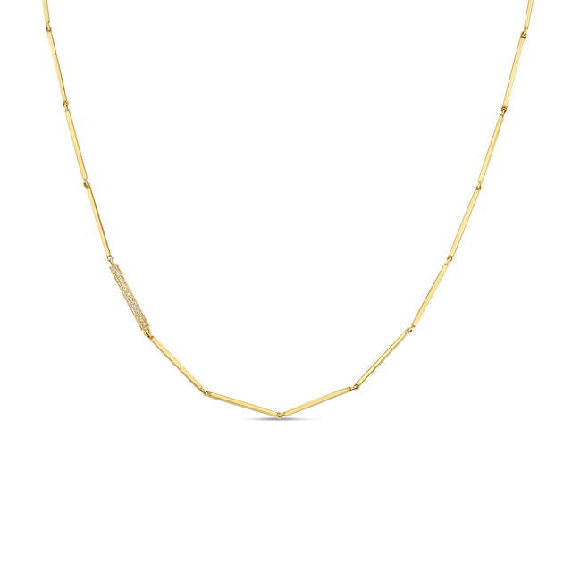 Linear Necklace w Diamonds - RTS