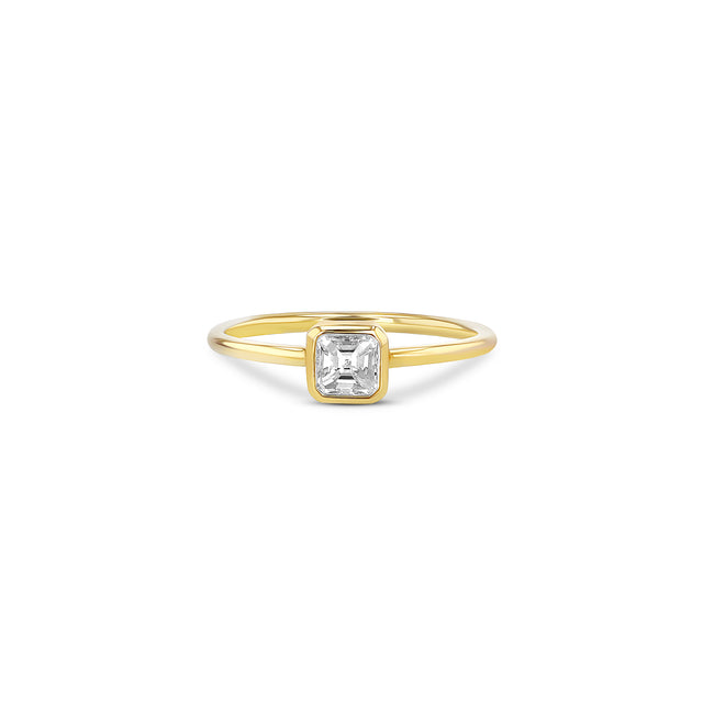 Asscher Diamond Stacker Ring