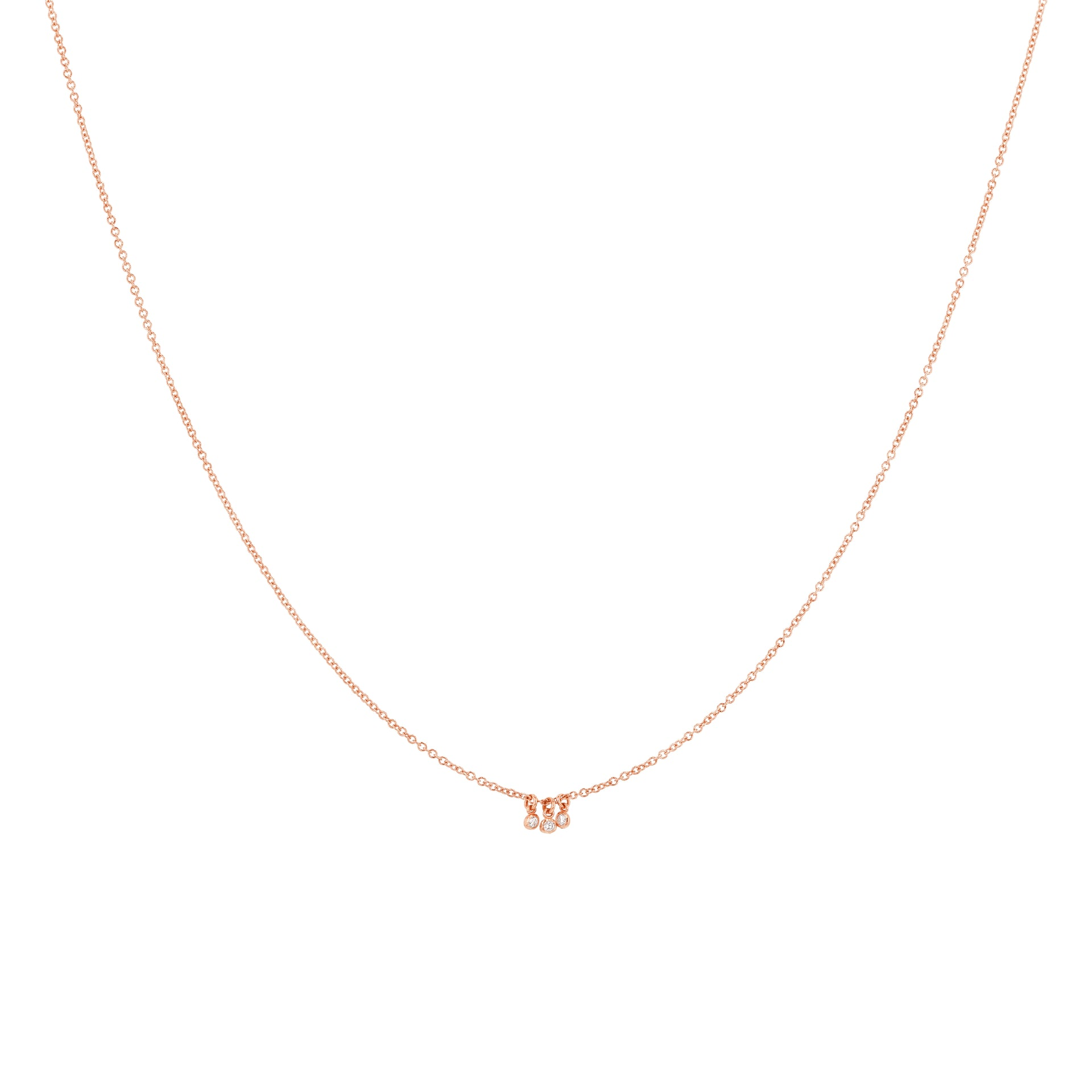 Diamond Dot Charm Necklace - 3