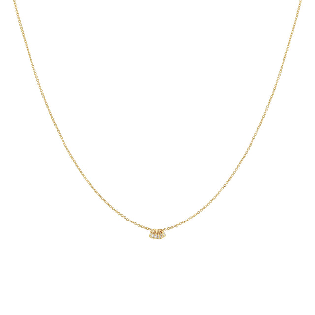 Diamond Dot Charm Necklace - 8