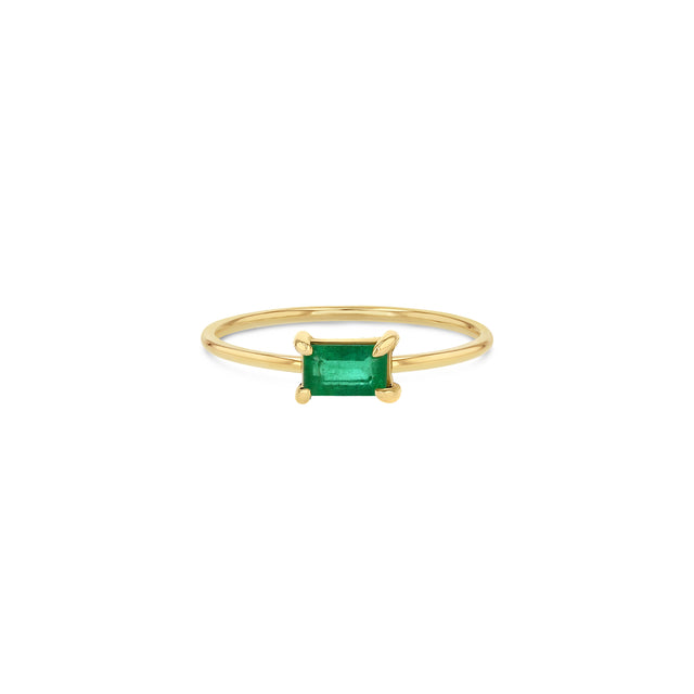 Green Emerald Stacker Ring
