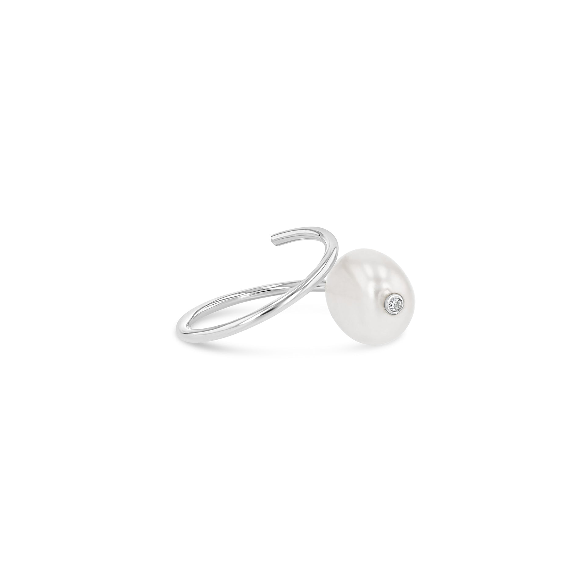 Baroque Pearl Coil Ring