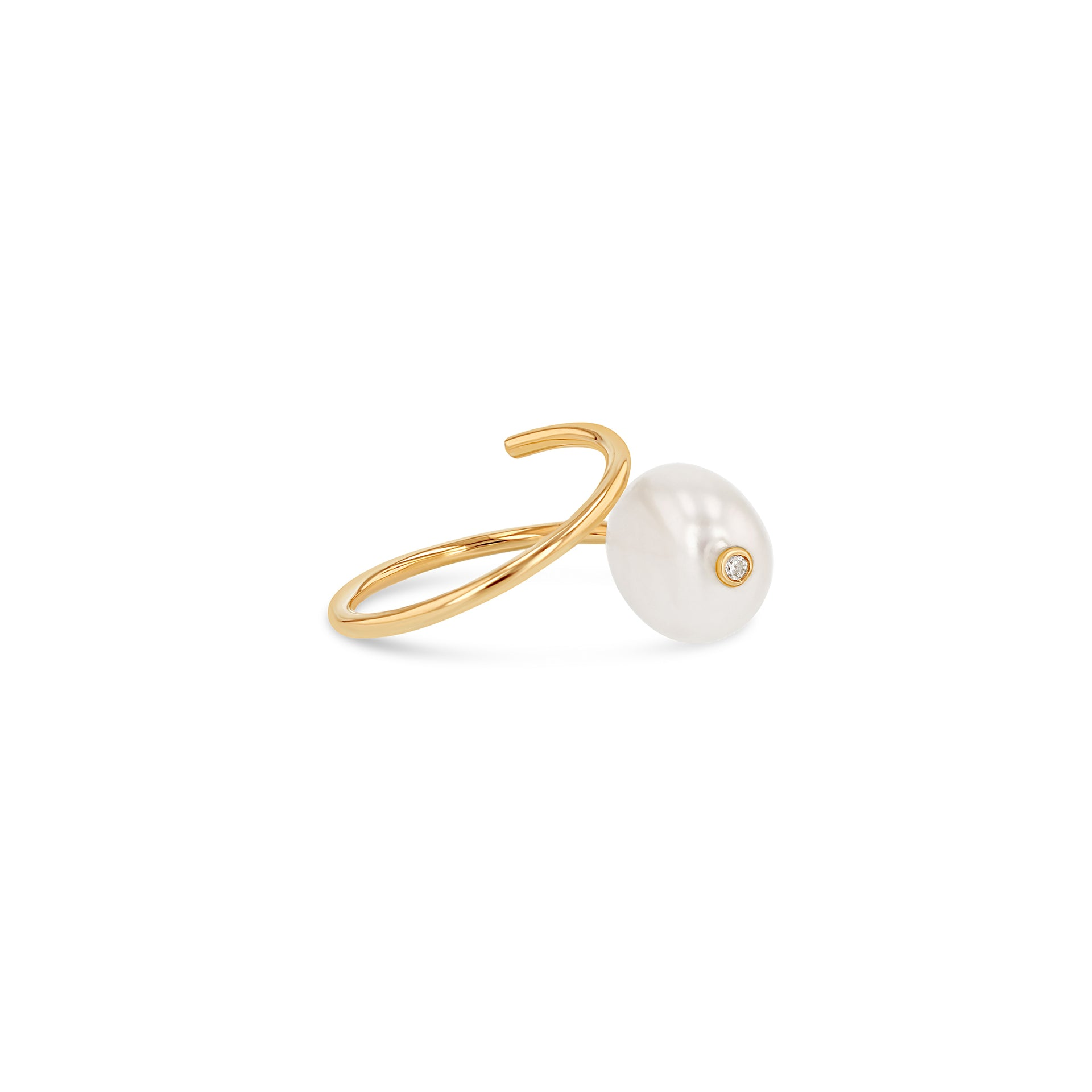 Baroque Pearl Coil Ring - RTS